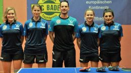 dritte Runde der 2. Damen-Bundesliga Sportcenter Baden - Vor den heimischen Fans hatten die Badener Tischtennisdamen einen starken Auftritt. - Foto: BAAC