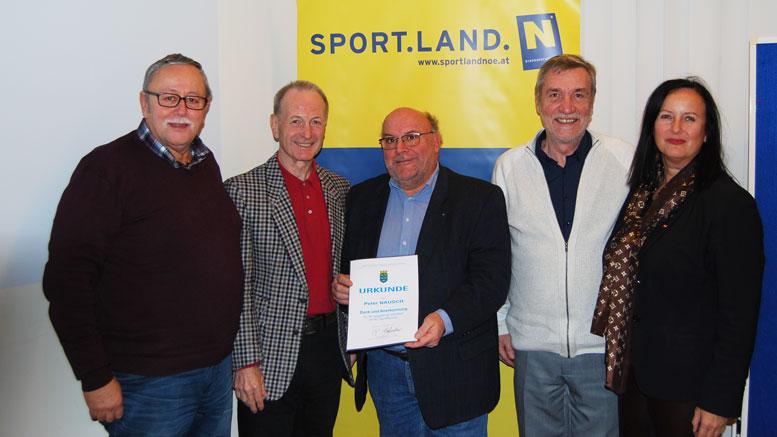 Alfred Marbach, Fritz Manseder, Peter Nausch, Alfred Weichinger und Ilse Stöger